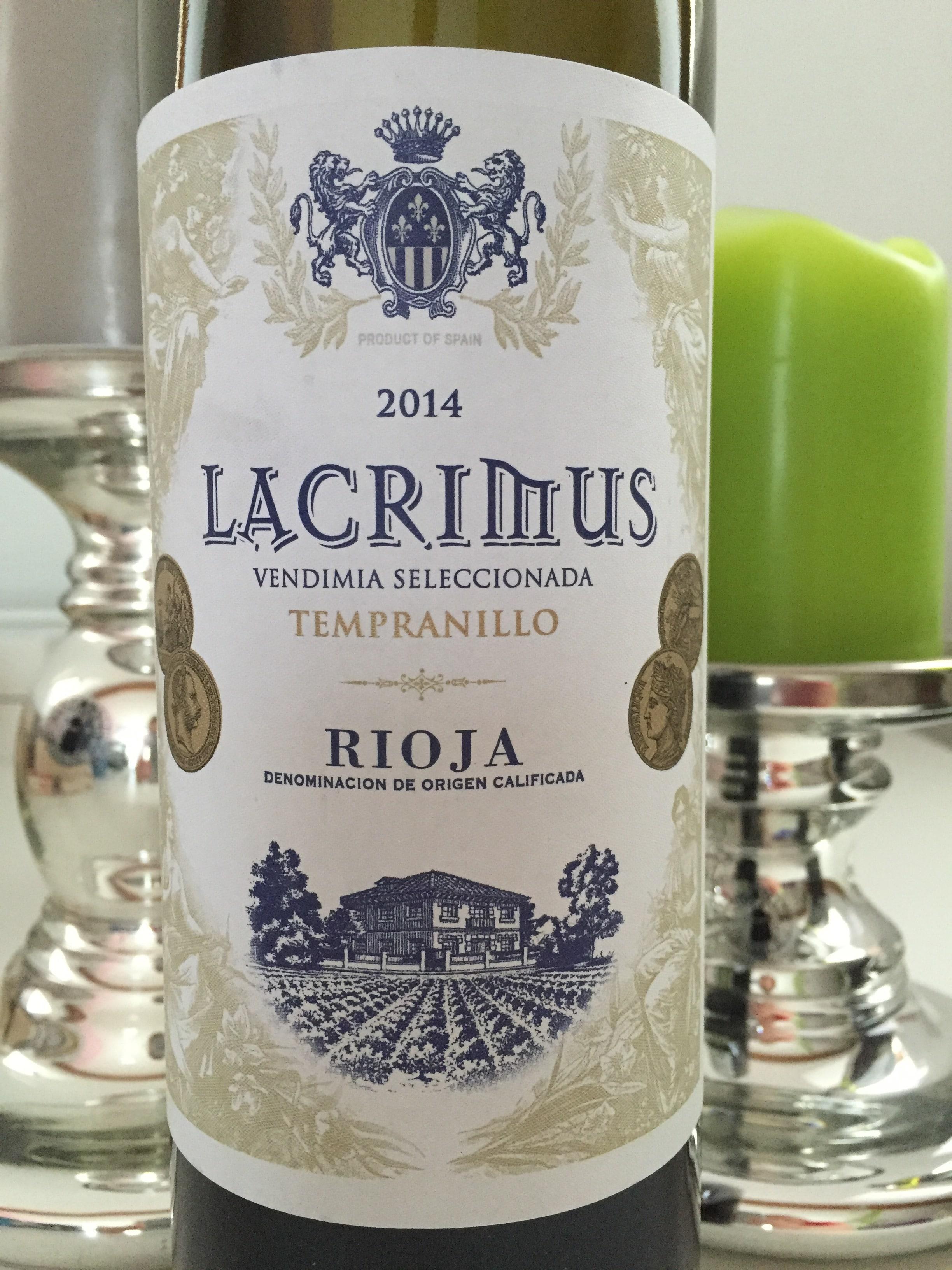 Lacrimus Vendimia Seleccionada Tempranillo Rioja 2014
