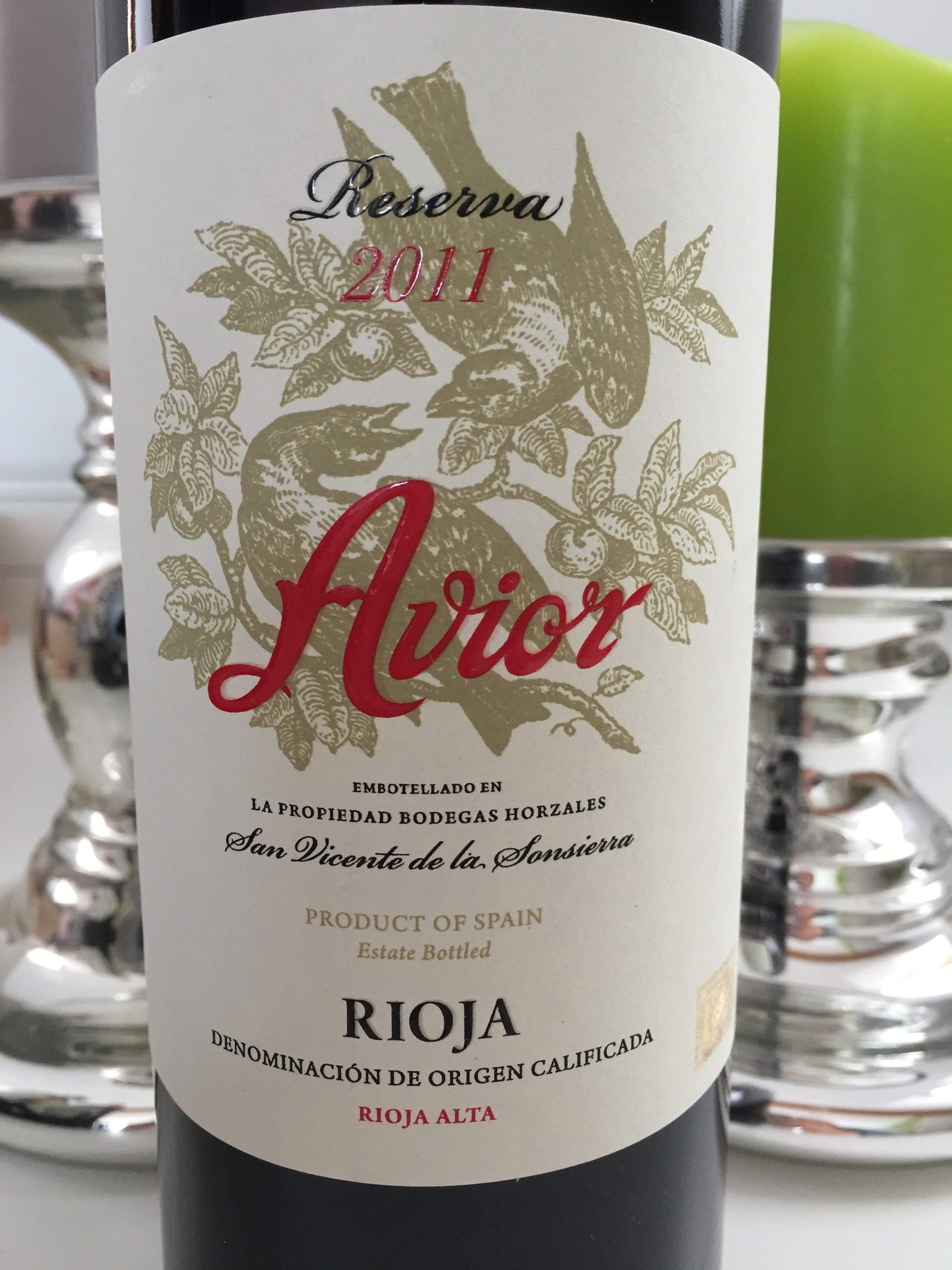 Avior Rioja Reserva 2011