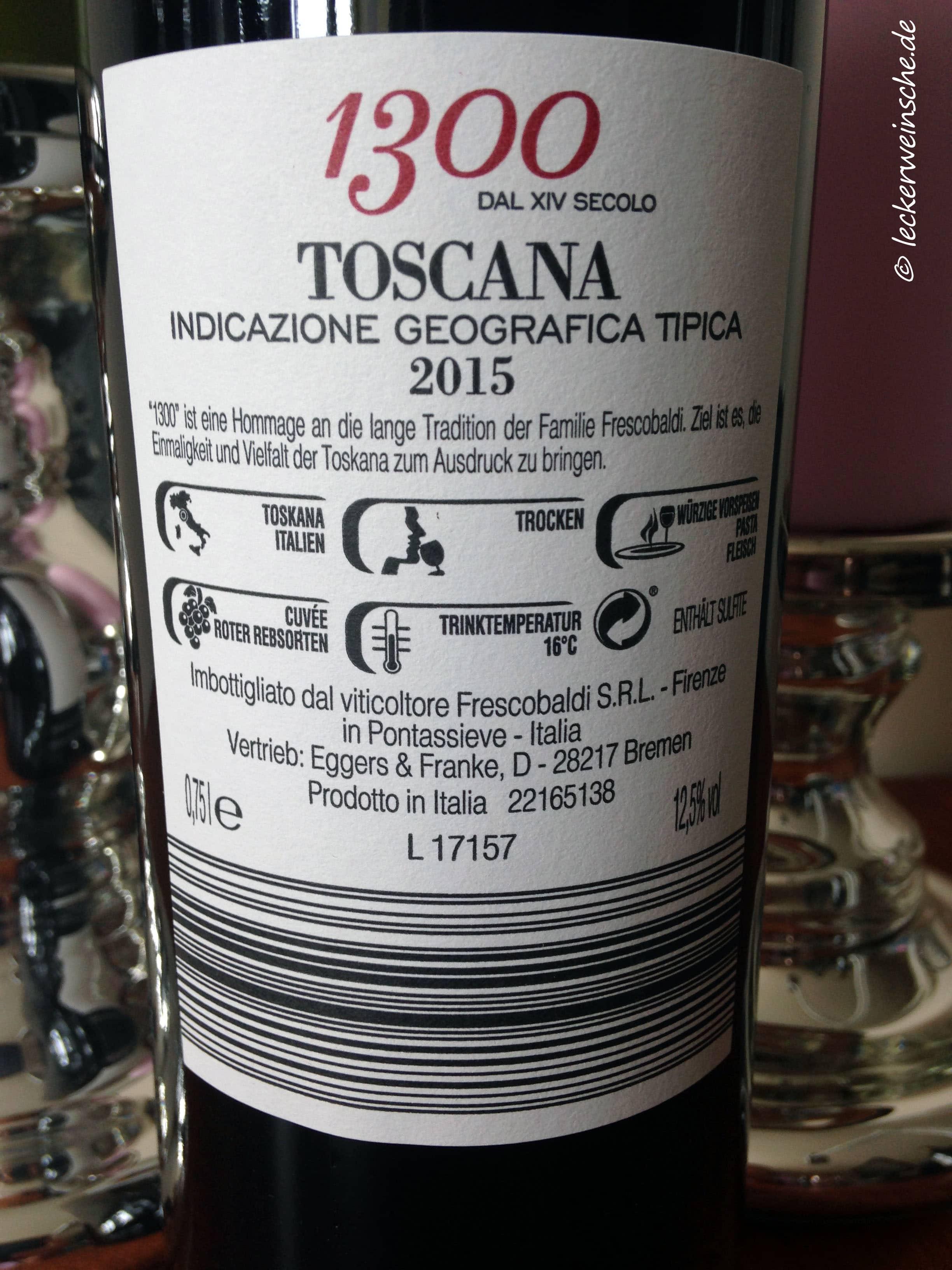 Frescobaldi 1300 Toscana 2015