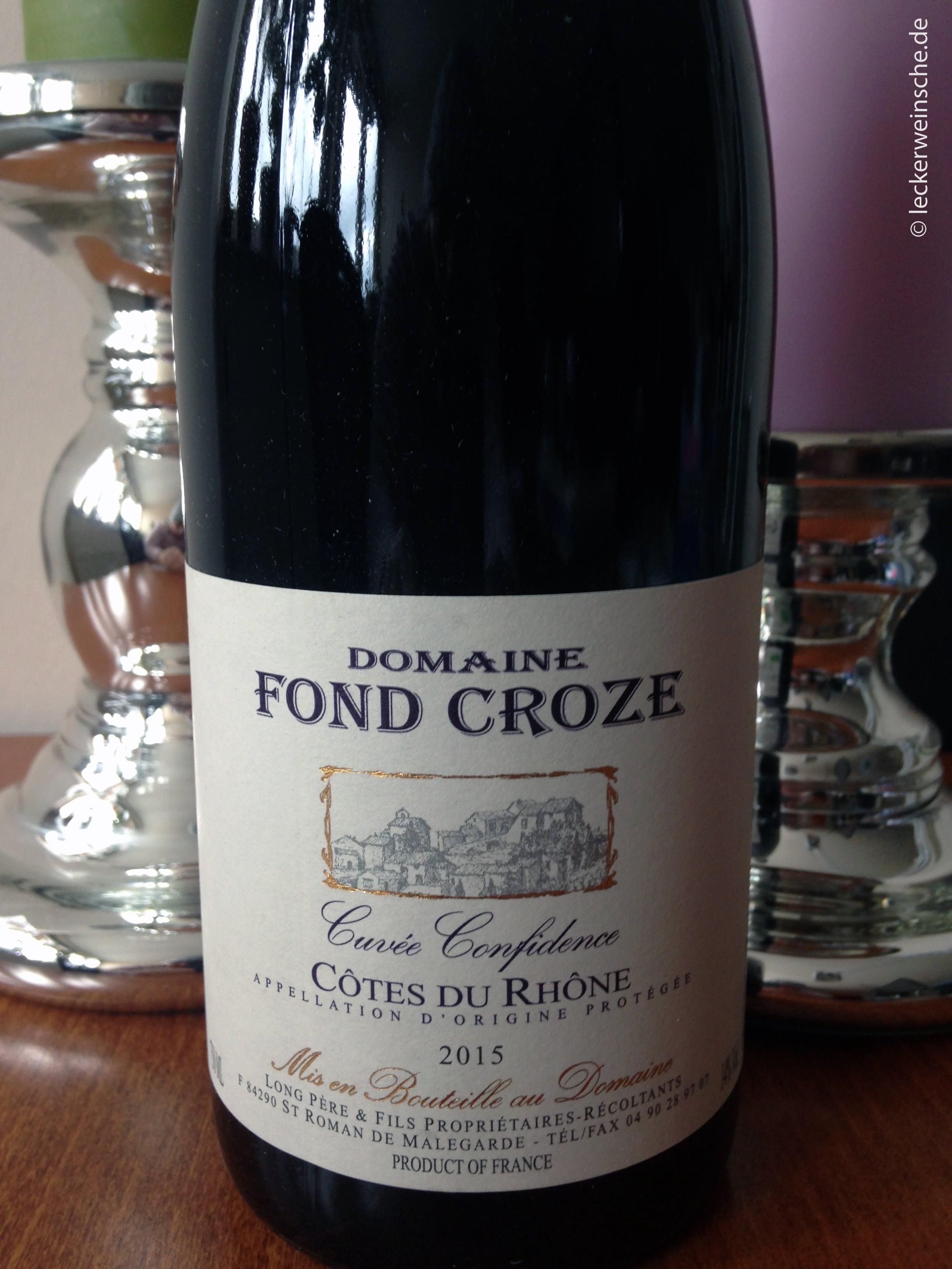 Domaine Fond Croze Côte du Rhone 2015