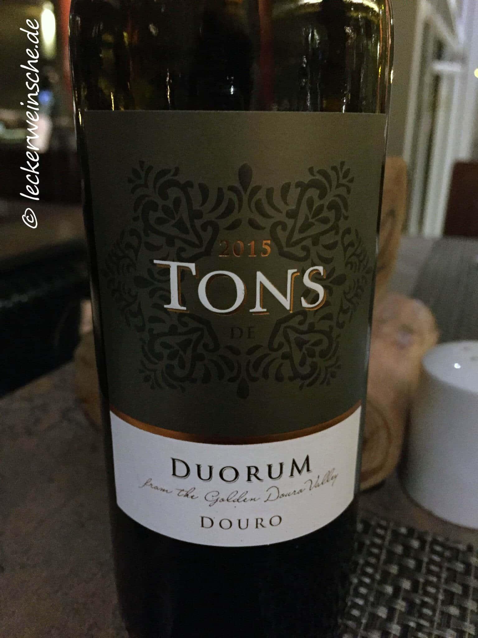 tons de duorum douro rotwein portugal