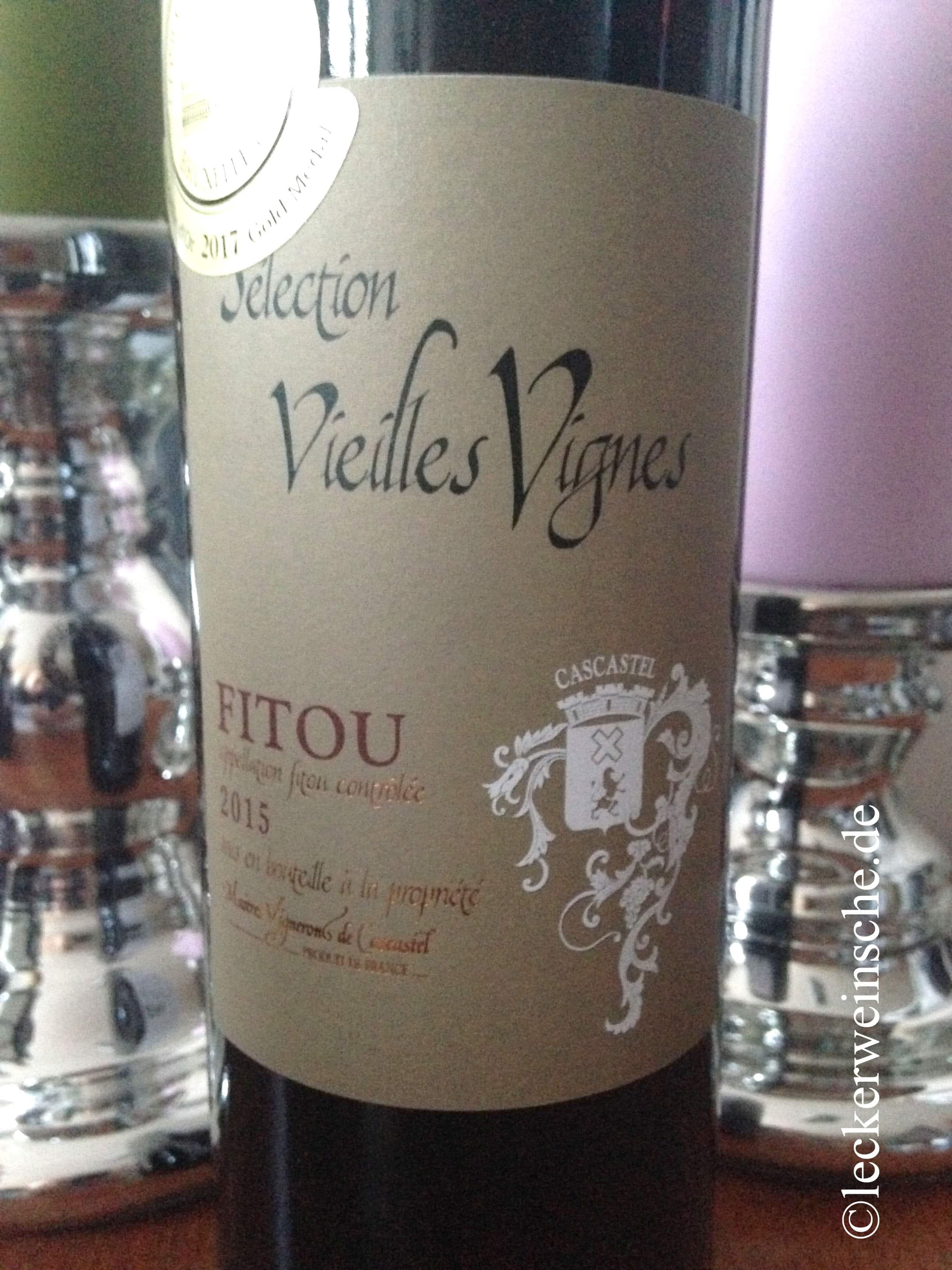 Weinflasche Vorderseite von Fitou Selection Vieilles Vignes