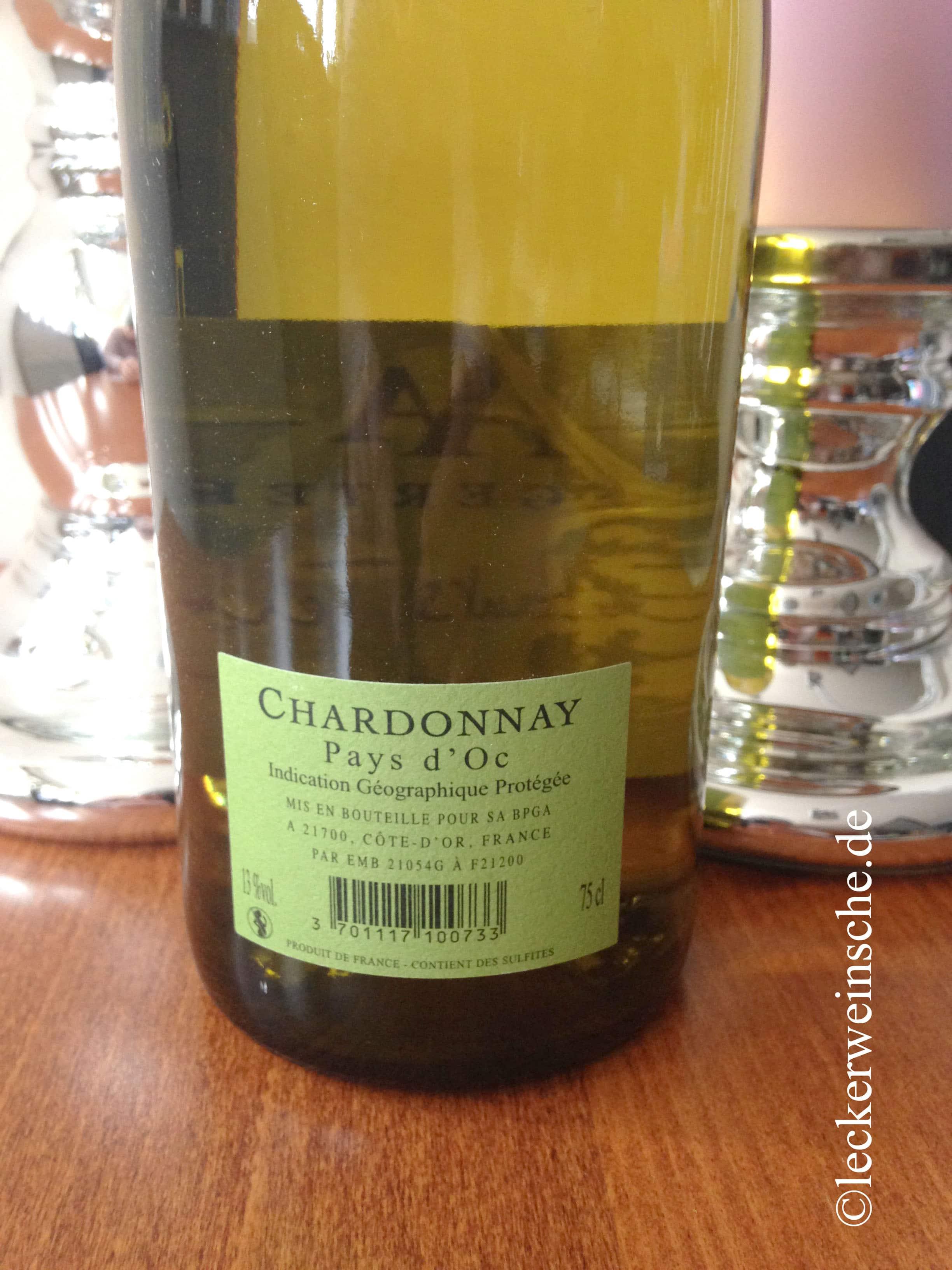 Weinflasche mit dem Wein Les Enfants Terribles Chardonnay