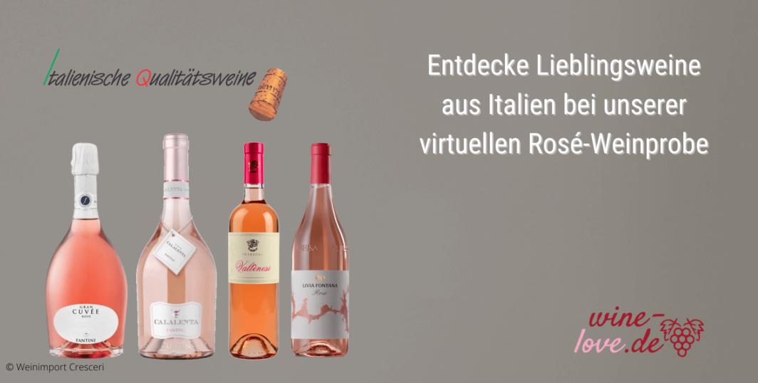 Virtuelle Rosé-Weinprobe
