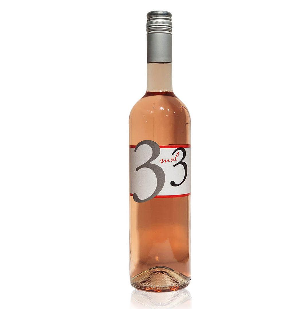 """2020 """"3 mal 3"""" Cuvée Rosé Qualitätswein - Winzergenossenschaft Winzer von Erbach eG - Rheingau, Deutschland"""